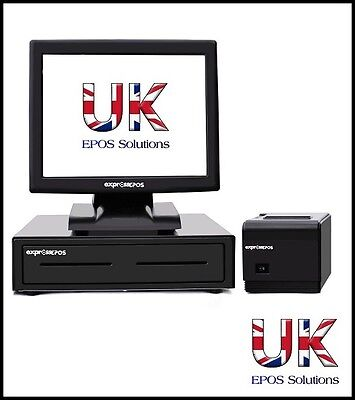 """15"""" All In One Touchscreen Epos System For Newsagents Off Licences And Convenien"""