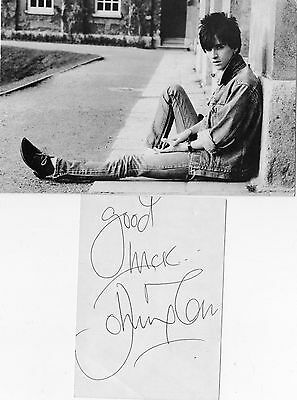 Authentic Signed Johnny Marr Card + Original Smiths Postcard..real Signature.coa