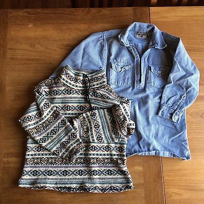 Vintage Boys Sweater And Zipper Shirt Size 7