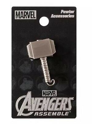 Avengers Assemble Thor Hammer Pewter Lapel Pin Charm Marvel Age of Ultron