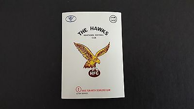 1973 Scanlens Football Sticker No 2 The Hawks Hawthorn Excellent Condition
