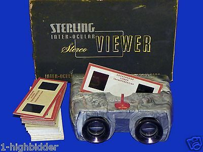 VTG 1950 Sterling Realist Format 3D StereoViewer Stereoscope Box Slides SERVICED