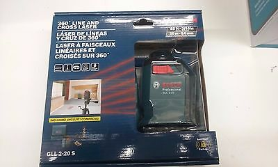 Bosch GLL 2-20 S 360 Degree 65ft- 3/16in Line and Cross Laser.