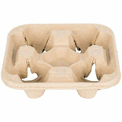 MT Products Biodegradable Pulp Fiber 4 Cup Drink Carrier Tray / Holder for Cold