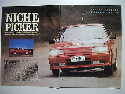 Nissan Skyline Silhouette Gts Series 11 5 Page Magazine Road Test