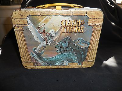 Lunch Box Metal Clash of the Titans 1980 No Thermos