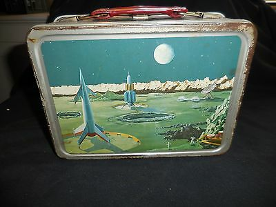 Lunch Box Metal 1958 Satellite No Thermos