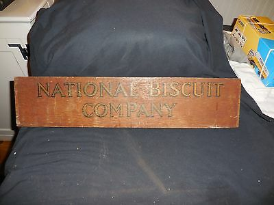 "Vintage Sign National Biscuit Company Wooden 23"" x 5 1/2"""