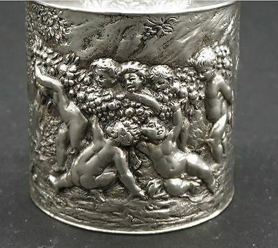 Antique Silver Continental Repousse Tea Caddy Or Urn