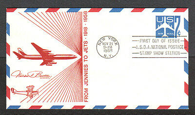 Us Fdc 1958 From Jennies To Jets 7C Air Mail Cover First Day Of Issue Asda Show
