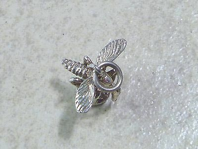 MOSQUITO Vintage Sterling Silver Charm Pendant