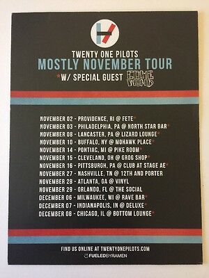 *RARE* Twenty One Pilots Tour Advertisement (6 Inches X 8 Inches)