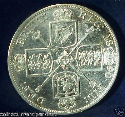 Great Britain Double Florin  1890  Arabic 1 in Date