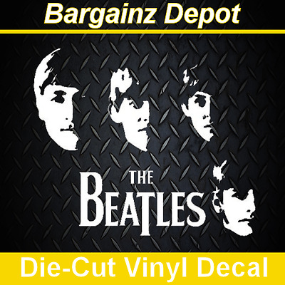 Vinyl Decal .. THE BEATLES .. Awesome Band Faces Laptop Car Music Sticker Decal
