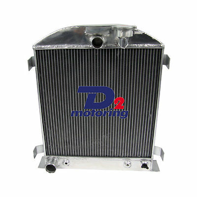 3ROW Aluminum Engine Radiator For Ford CHOPPED 1939-1940 3""