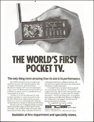 1978 Vintage ad for Sinclair Microvision Pocket TV Photo    (021317)