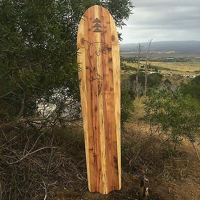 Hawaiian Alaia surfboard redwood