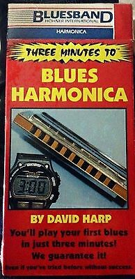 3 Minutes To Blues Harmonica by David Harp NEW