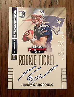 2014 Jimmy Garoppolo Playoff Contenders Auto Autograph  Rc.