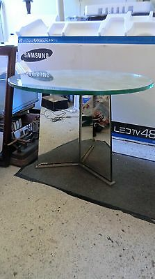 table basse en verre art deco attribuée a adnet saint gobain