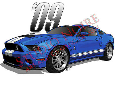 2009 Shelby Cobra Mustang GT500 Vinyl Sticker