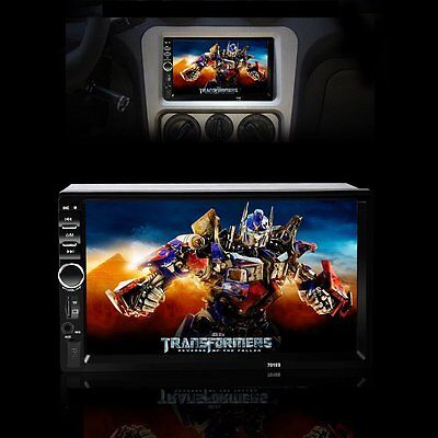 7'' HD Bluetooth Touch Screen Car Stereo Radio 2 DIN FM MP4 MP3 USB AUX Player