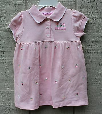 Carter's Baby Girl 2 Pcs Dress & Diaper Cover Set Pink, Size 9 Months, NWT