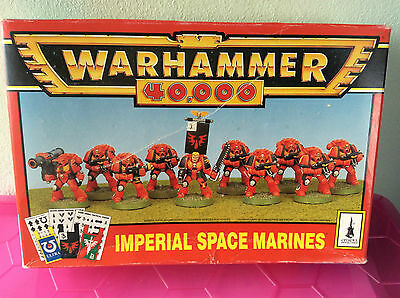 Space Marine tactical marines box retro heavy weapons