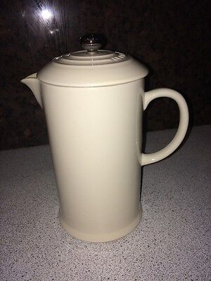 Inboxed And Stored Le Creuset Cafetiere/Coffee Press Almond
