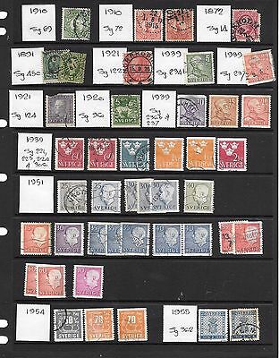 Selection Of Postage Stamps From Sweden