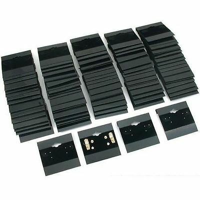 1 X Earring Display Hang Cards Black Flocked 2 X 2 Inch 100 FREE SHIPPING