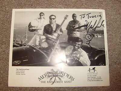 Merl Saunders And Rain Forest Band, 8X10,signed By Merl Saunders,100% Authentic!