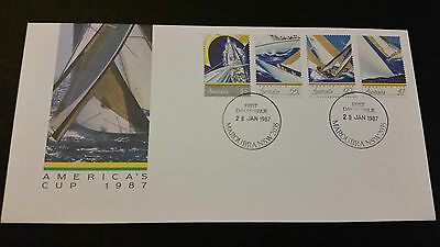 America's Cup 1987 First day Cover