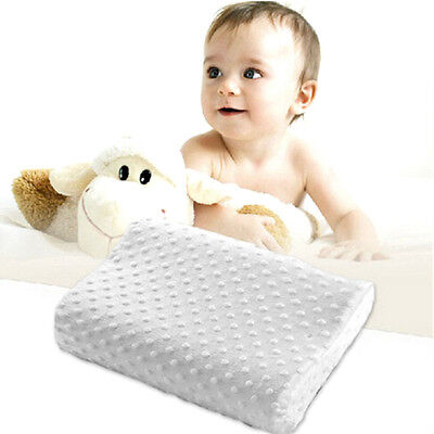 Baby Kid Infant Memory Foam Pillow Prevent Protect Flat Head Cervical Healthcare