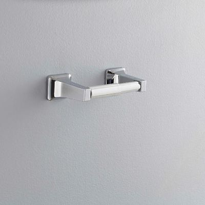 "Double Post Toilet Paper Holder Polished Chrome Bathroom Wall Mount 8.24""X3.32"""