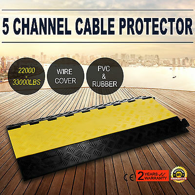 5 Channel Rubber Electrical Wire Cable Cover Ramp Guard Warehouse Cord Protector