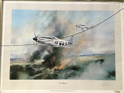 Aviation Art, P51, Robert Taylor, Signed By General Russell Berg