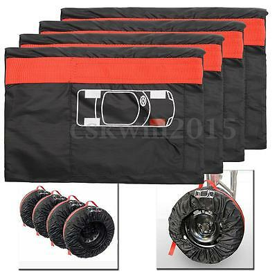 Set of 4 13''-16'' Car Spare Tyre Wheel Protector Cover Tire Bags Carry Tote