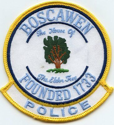 Boscawen New Hampshire Nh Police Patch