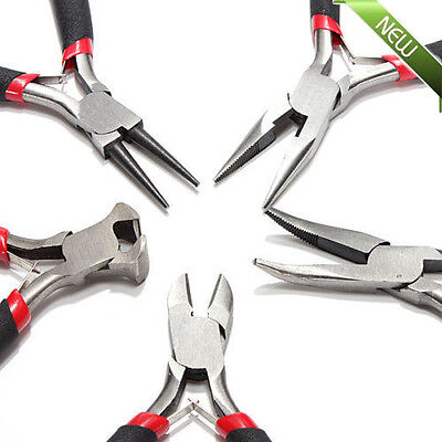 "5pcs JEWELERS PLIERS SET JEWELRY MAKING BEADING WIRE WRAPPING HOBBY 5"" PLIER VIP"