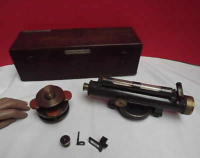 LEVEL (SURVEYING) Troughton & Simms (A1 WORKING CONDITION) Original Box (C1900)