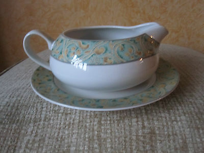 "Bhs Gravy Boat & Stand Plate From  ""valencia"" Range Vgc"