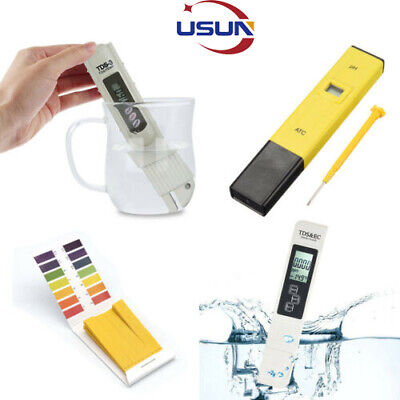 UK Digital TDS Meter PH Tester Paper Aquarium Pool Hydroponic Water Test Pen