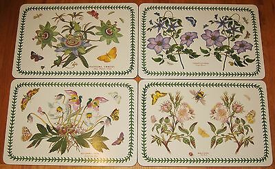 PORTMEIRION - THE BOTANIC GARDEN - Set of 4 Different Corkboard Placemats - MINT
