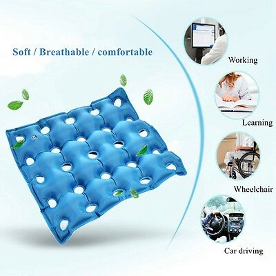 Moblity inflatable waffle PVC seat cushion medical air HEMORRHOIDS FREE PUMP