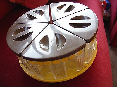 COSMOPLAST VINTAGE LAZY SUSAN CANISTERS 1970's