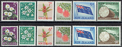 NEW ZEALAND 1966, Full Mint sets, halfpenny to 1/-, & new decimal issues, 3444