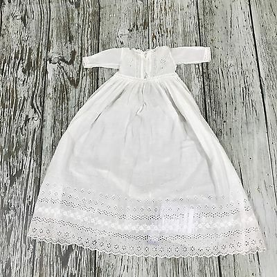 UNBRANDED White Baby Dress Size 0-12 months Christening Embroidery Anglaise 4795