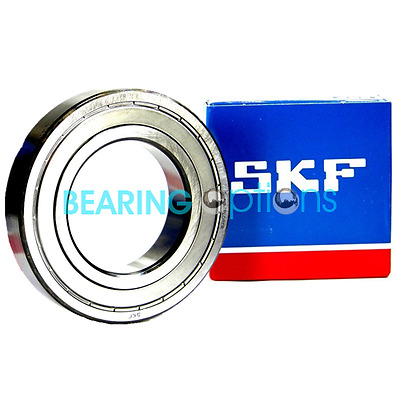 SKF 6200 - 6209 ZZ Series Metal Shielded Genuine SKF Ball Bearings