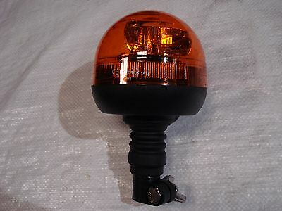 L.E.D Quick Mounting Rotating Amber Warning Beacon With Flexi Din Pole Fitting
